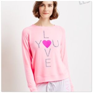 """🆕 Pink """"Love You"""" sweater top"""
