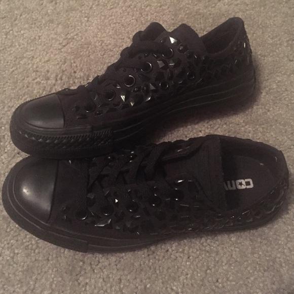 1f6930330fc9 Converse Shoes - Black Rhinestone Converse Chuck Taylors