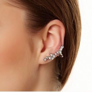 T&J Designs Jewelry - Crystal Cuff Earring with Crystal Stud