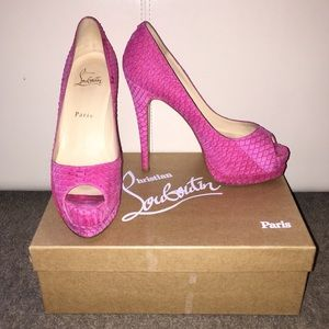Christian Louboutin Shoes - Authentic Christian Louboutin Altadama Watersnake