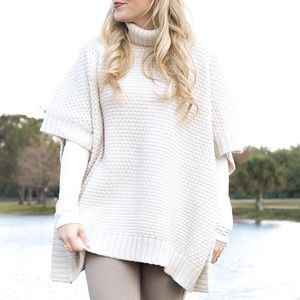 Forever 21 Sweaters - MOVING SALE❗️Cream Turtleneck Poncho