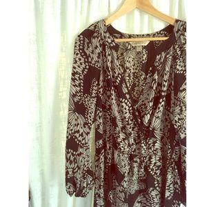 Silk Presley Skye Butterfly Print Dress
