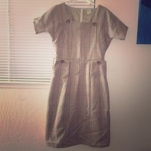 Shabby Apple Dresses & Skirts - Retro/Vintage inspired Tan Plaid Dress