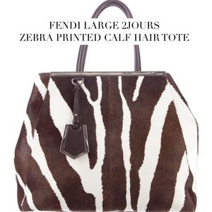 Fendi Handbags - NWOT FENDI Large 2Jours Calf Hair Tote
