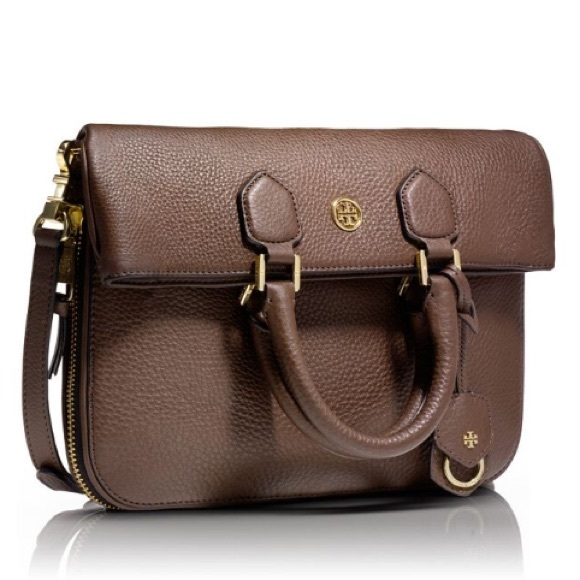 1e38b8ef1bf Tory Burch Robinson Pebbled Fold-Over Messenger. M 574f71e57f0a05b65c02350b
