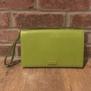 Cole Haan Lime Green Leather Wristlet/clutch