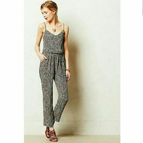 2672fc8123fd Anthropologie Pants - Anthropologie Elevenses Floral Jumpsuit XS