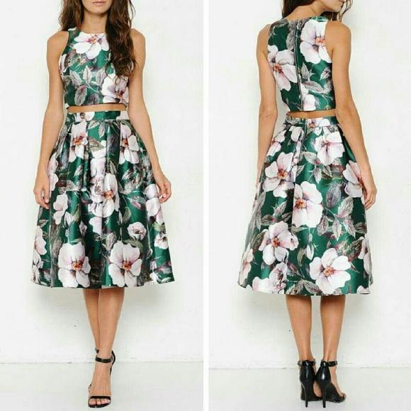 L atiste 2 Piece Floral Skirt Set 5babe0089