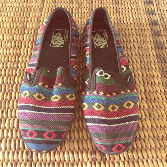 Vans Shoes | Vans Tribal Print Slipons