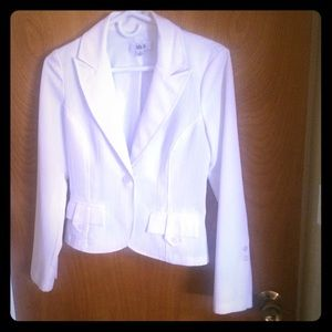Ally B Jackets & Blazers - White pin striped blazer.