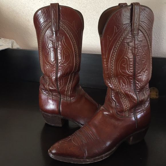 77991977cd2 Lucchese Vintage hand made cowboy boots