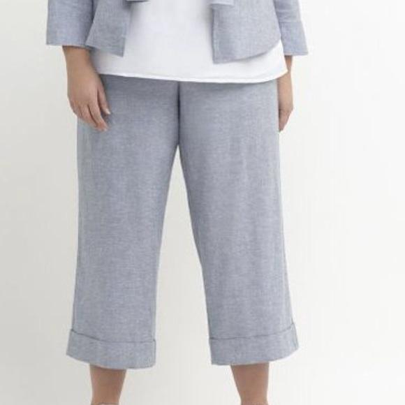 bedf8f1e0c5 Lane Bryant Lena Linen Wide-leg crop pants. 24 NWT