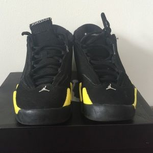 c2ef2a9cf61a Women s Black And Yellow Jordans Retro 14 on Poshmark