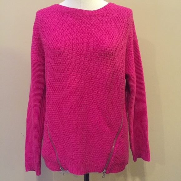 8% off ASOS Sweaters - ASOS hot pink waffle knit sweater with ...