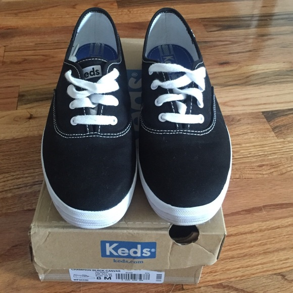 Keds Shoes   Champion Black Canvas Keds