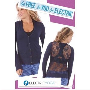 Lace-back cardigan