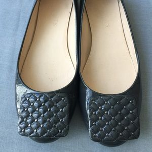 Talbots grey leather flats