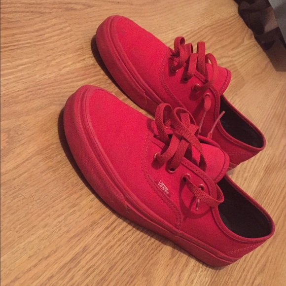 25% off Vans Shoes - ALL RED VANS from C's closet on Poshmark