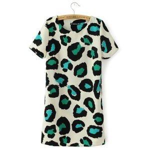 OASAP Leopard Print Dress Size Small