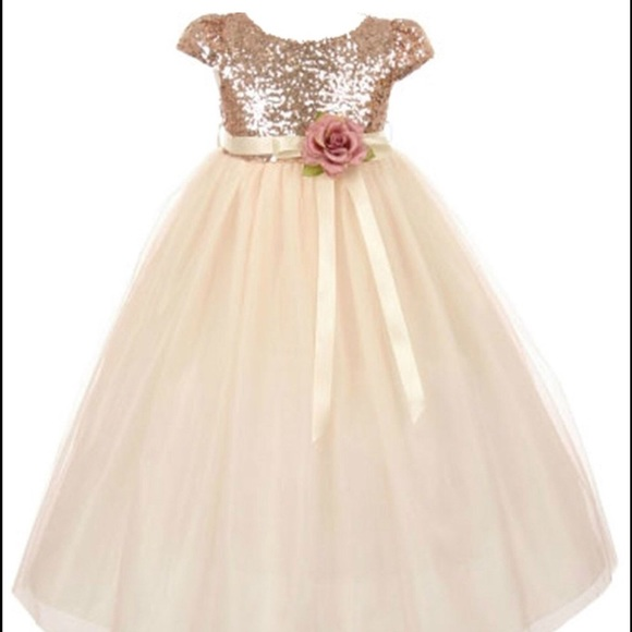 83f67fd89e3 Aki Dress Other - Beautiful 5T   2T Sequin   Tulle Flower Girl Dress