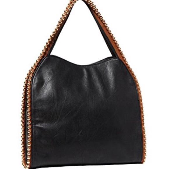 Big Buddha Bags Black Shoulder Bag With Gold Balls Poshmark