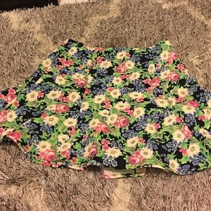 Floral pattern skirt from F21