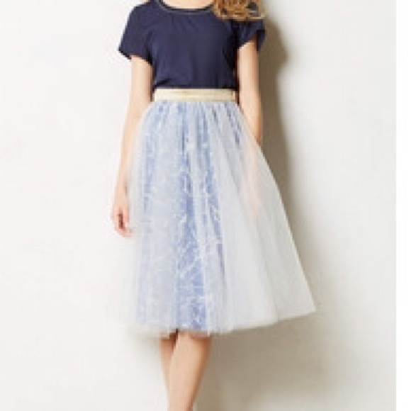 3960d0dfe9 Anthropologie Dresses & Skirts - Alexandra Grecco tulle skirt with flower  layer