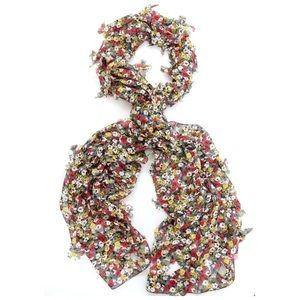 Custom Accessories - B165 Red Yellow White 3D Cut Out Butterfly Scarf