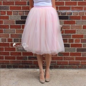C'est Ca New York Dresses & Skirts - 🆕 Claire Blush Pink Soft Tulle Skirt