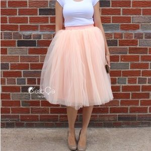 C'est Ca New York Dresses & Skirts - 🆕 Claire Blush Peach Soft Tulle Skirt