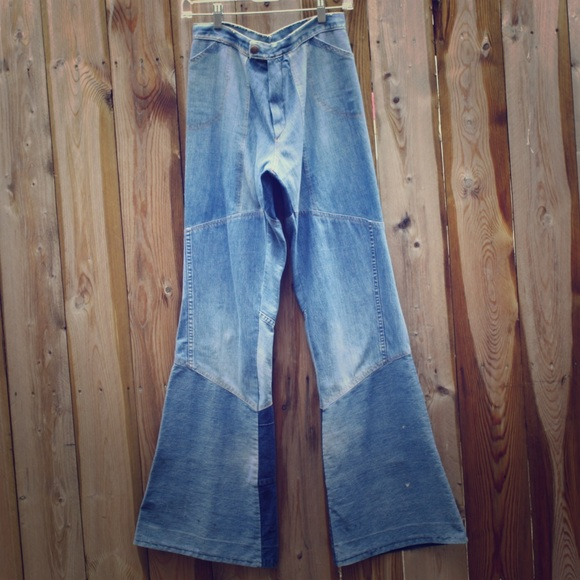 e6c5f55f Vintage 1970's Patchwork Flare Jeans
