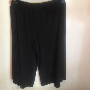 Robbie Bee Pants - Black Stretchy Culottes