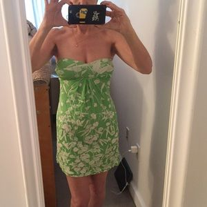 Josh Brody Dresses & Skirts - Strapless green and white summer dress