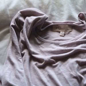 PHILOSOPHY HIGH/LOW SHIRT SIZE S