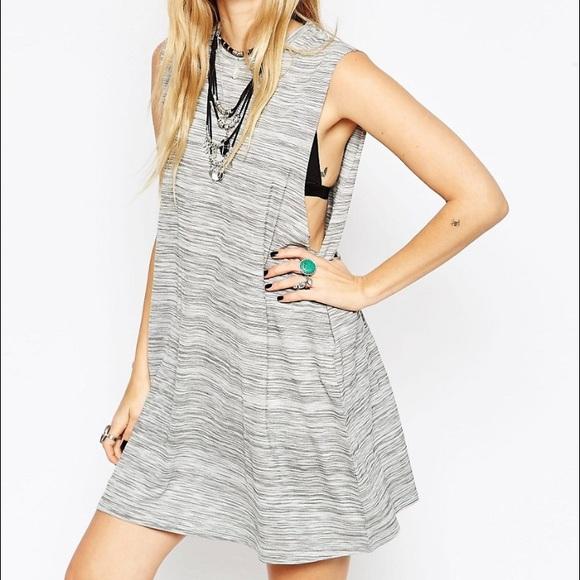 5463f938d0c2 ASOS Dresses   Skirts - ASOS grey high neck sleeveless swing T shirt dress