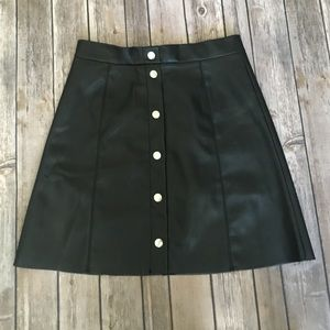 H&M Dresses & Skirts - H&M Faux leather skirt