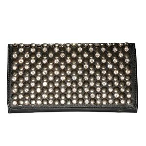 Handbags - Rhinestone Clutch with Chain Strap