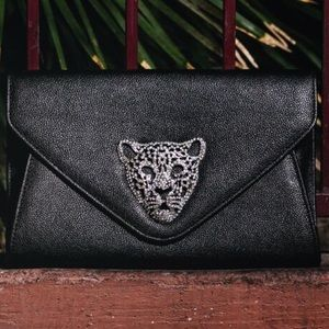 Handbags - Tiger Envelope Clutch with Chain Strap