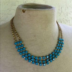 Blue Rhinestone Statement Necklace