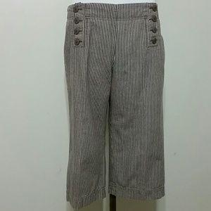 Larry Levine Pants - {Larry Levine} striped sailor cropped pants