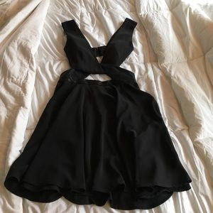 Black style stalker dress with cut outs