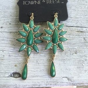 Towne & Reese Jewelry - Turquoise Earrings Statement Dangle NWT