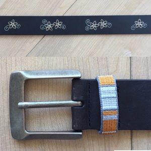 Chaco Accessories - Chaco Honeysuckle Leather Belt NWOT | Black | 36