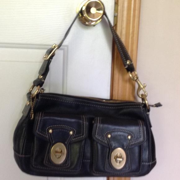 29b6058baf ... purchase coach black bag with turn key pockets bd0c7 3ef6d