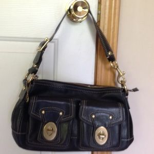 Coach Black Bag with turn key pockets