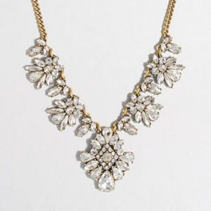 J. Crew Ornate Crystal Statement Necklace