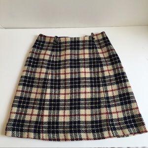 Vintage 70's Plaid Skirt