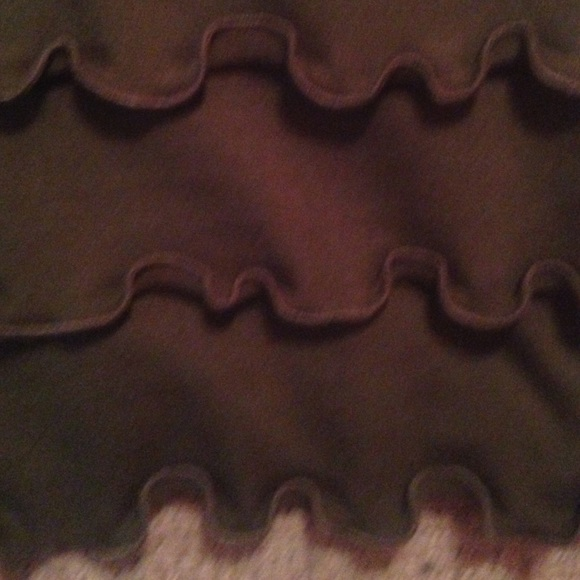Treehouse 28 Skirts - Frilly olive green skirt