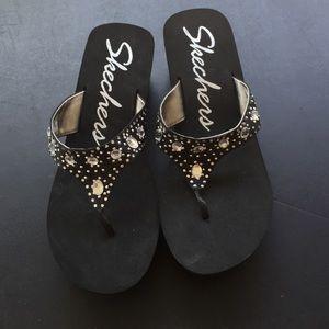 0a24d1c8422c Skechers Shoes - Skechers bling flip flop size 11 new