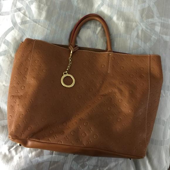 82% off Invece Handbags - Invece Cognac Italian Leather Satchel ...